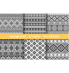 ethnic seamless patterns vector image