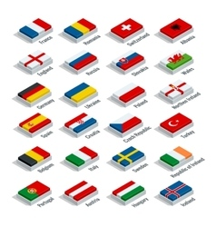 European football championship 2016 in France vector