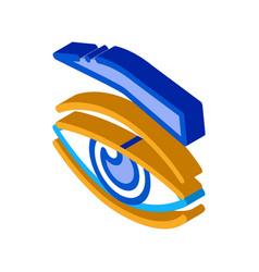 Eyelid medical problem isometric icon vector