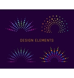 Fireworks design elements vector