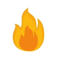 Flame fire burn vector
