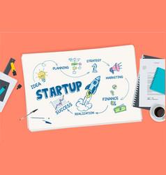 flat design concept for startup vector image
