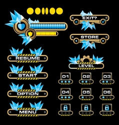 Game user interface-icy gear vector