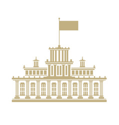 government house with a flag on the roof vector image