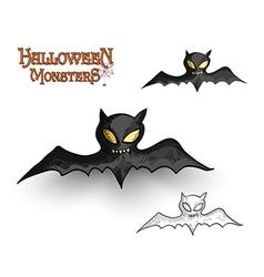 Halloween monsters spooky vampire bat EPS10 file vector image