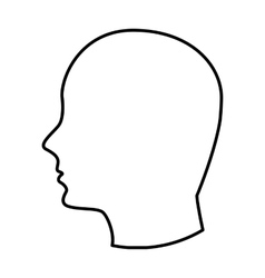 head human profile icon vector image