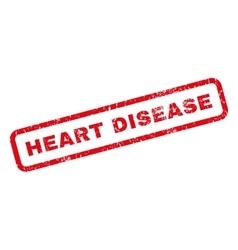 Heart Disease Rubber Stamp vector image