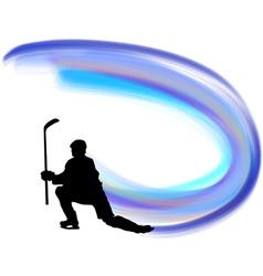hockey background vector image