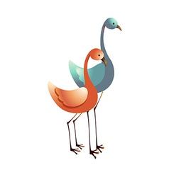 Icon flamingo vector