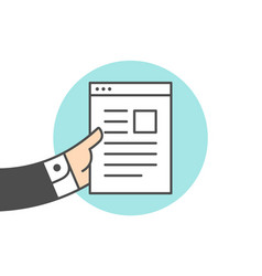 icon of file letter vector image