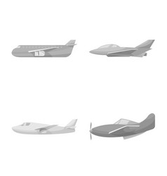 isolated object aviation and airline icon set vector image