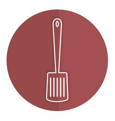 Kitchen spatula cutlery icon vector