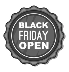 Label black friday open icon vector