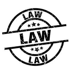 Law round grunge black stamp vector
