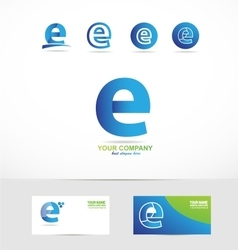 Letter e small logo vector image