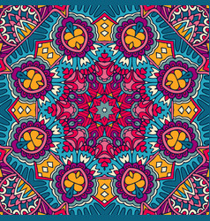 mandala colorful ethnic round ornament vector image