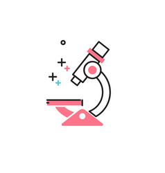 Microscope in flat style icon vector