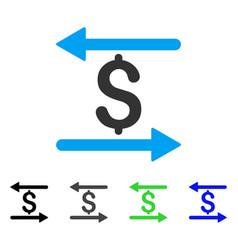 Money transactions flat icon vector