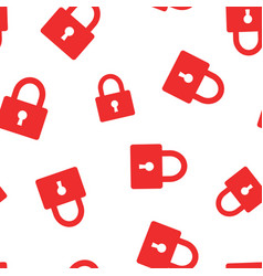padlock icon seamless pattern background business vector image