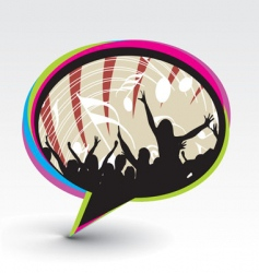 party speech bubble icon vector image
