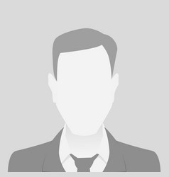person gray photo placeholder man material design vector image