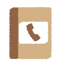 Phone book icon image vector