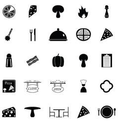 pizza icon set vector image