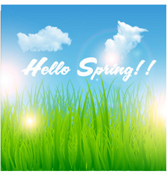Print hello spring background vector