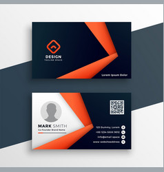 Professional geometric business card mockup vector