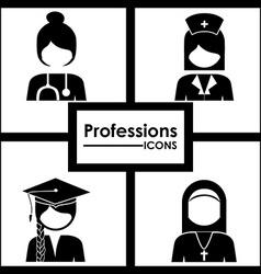 Professions design vector