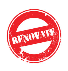 Renovate rubber stamp vector