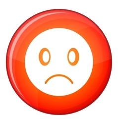 Sad emoticon flat style vector