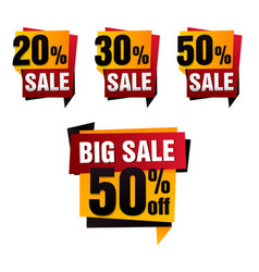 Sale paper banner sale background big vector