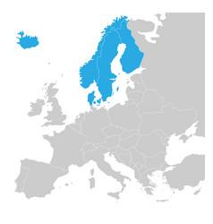 Scandinavian states denmark norway finland vector