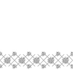 seamless black floral fence vector image