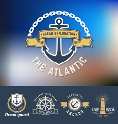 Set of nautical Logo Template vector image