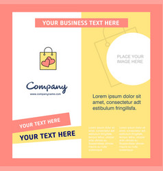 shopping bag company brochure template busienss vector image