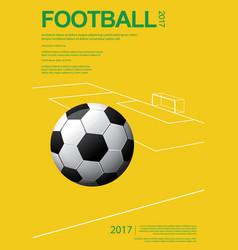 soccer football poster vestor vector image