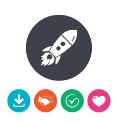 Start up icon Startup business rocket sign vector image