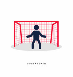 Stick figures of soccer or football goalkeeper vector