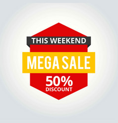 super sale poster 50 off vector image
