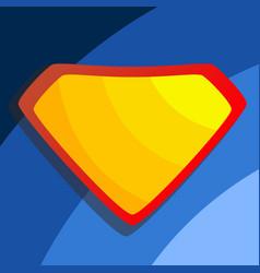 Superhero logo yellow red shield emblem vector