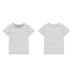 technical sketch women t shirt in gray melange vector image