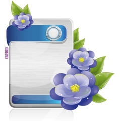technology flowers vector image