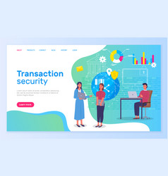 transaction security people working in bank new vector image