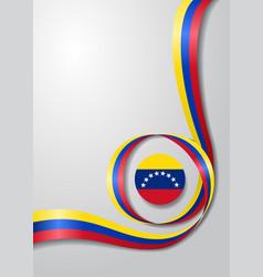 venezuelan flag wavy background vector image