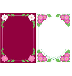 Vertical backgrounds with flowers dahlias vector