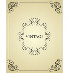 Vintage background card vector