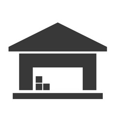 warehouse black icon business storage and vector image