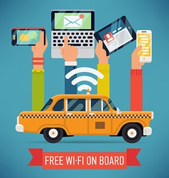 Wifi in a Taxi Poster vector